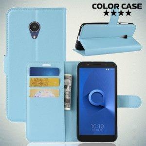 Чехол книжка для Alcatel 1X - Голубой