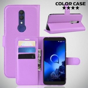 Чехол книжка для Alcatel 1X 2019 5008Y - Фиолетовый
