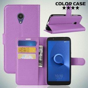 Чехол книжка для Alcatel 1X - Фиолетовый