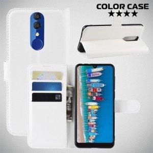 Чехол книжка для Alcatel 3 2019 5053Y / 3L 5039D - Белый