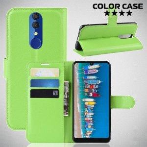 Чехол книжка для Alcatel 3 2019 5053Y / 3L 5039D - Зеленый