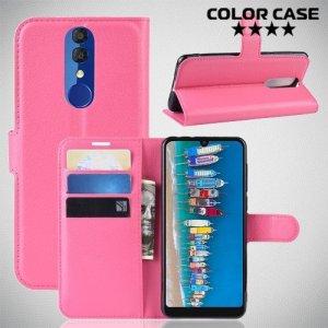 Чехол книжка для Alcatel 3 2019 5053Y / 3L 5039D - Розовый