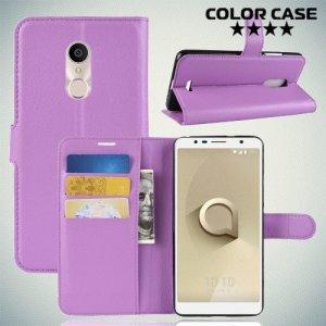Чехол книжка для Alcatel 3C 5026D - Фиолетовый