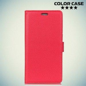 Чехол книжка для Alcatel 3V 5099D - Красный