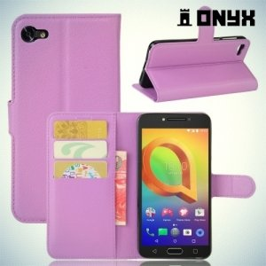 Чехол книжка для Alcatel A5 5085Q LED - Фиолетовый