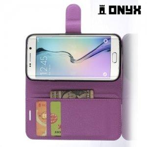 Чехол книжка для Samsung Galaxy S7 Edge - Фиолетовый