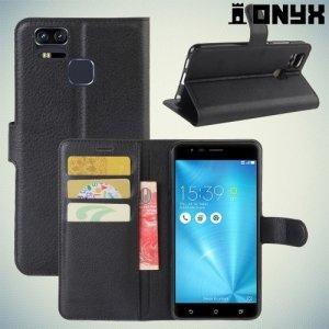 Чехол книжка для Asus ZenFone 3 Zoom ZE553KL - Черный