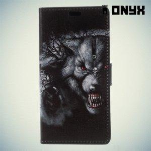 Чехол книжка для Asus Zenfone 4 Max ZC520KL - Злой волк