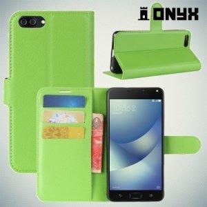 Чехол книжка для Asus Zenfone 4 Max ZC520KL - Зеленый