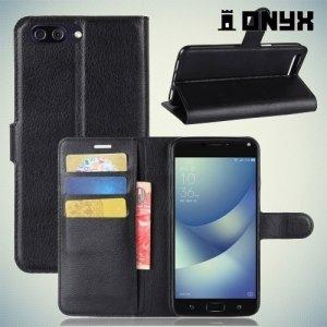 Чехол книжка для ASUS ZenFone 4 Max ZC554KL - Черный
