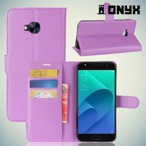 Чехол книжка для Asus Zenfone 4 Selfie Pro ZD552KL - Фиолетовый