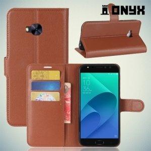 Чехол книжка для Asus Zenfone 4 Selfie Pro ZD552KL - Коричневый