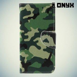 Чехол книжка для Asus Zenfone 4 ZE554KL - Хаки