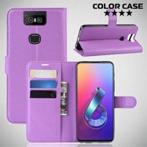 Чехол книжка для Asus Zenfone 6 ZS630KL - Фиолетовый