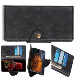 Чехол книжка для Asus Zenfone 6 ZS630KL с магнитом и отделением для карты - Черный
