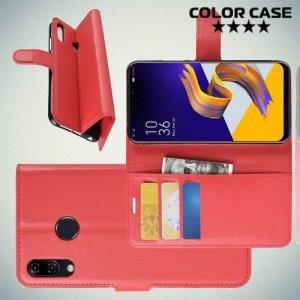 Чехол книжка для Asus Zenfone Max M2 ZB633KL - Красный