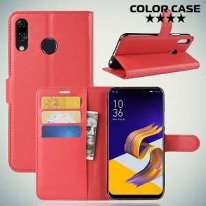Чехол книжка для Asus Zenfone Max Pro M2 ZB631KL - Красный