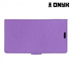 Чехол книжка для BQ Aquaris M5 - Фиолетовый