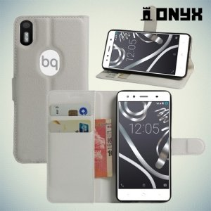 Чехол книжка для BQ Aquaris X5 Plus - Белый