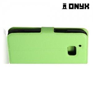 Чехол книжка для HTC 10 / 10 Lifestyle - Зеленый