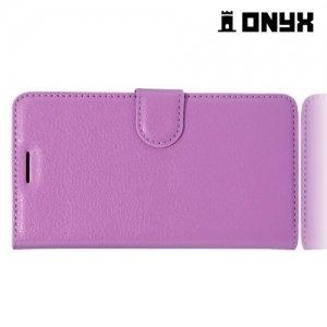 Чехол книжка для HTC Desire 10 pro - Фиолетовый