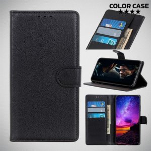 Чехол книжка для HTC Desire 19 Plus - Черный
