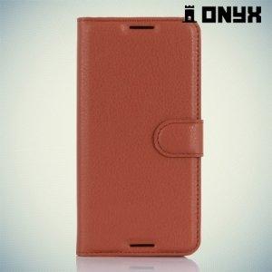 Чехол книжка для HTC Desire 530 / 630 - Коричневый