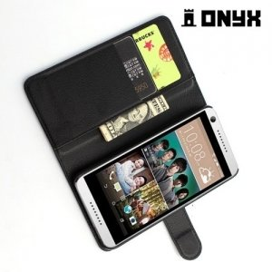 Чехол книжка для HTC Desire 650 - Черный