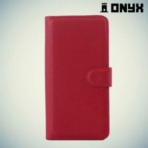 Чехол книжка для HTC Desire 650 - Красный