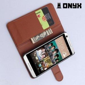 Чехол книжка для HTC Desire 650 - Коричневый