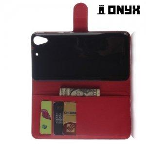 Чехол книжка для HTC Desire 728 и 728G Dual SIM - Красный