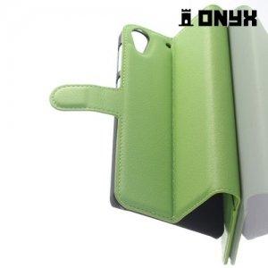 Чехол книжка для HTC Desire 728 и 728G Dual SIM - Зеленый