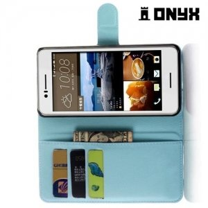 Чехол книжка для HTC Desire 728 и 728G Dual SIM - Голубой