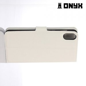 Чехол книжка для HTC Desire 825 - Белый