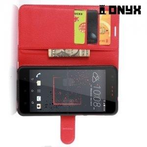 Чехол книжка для HTC Desire 825 - Красный