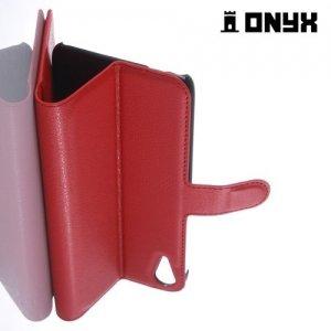 Чехол книжка для HTC Desire 828 - Красный
