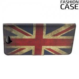 Чехол книжка для HTC One A9 - с рисунком Британский флаг
