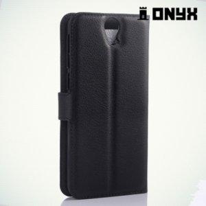 Чехол книжка для HTC One E9 Plus - Черный