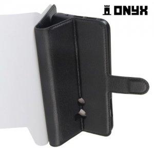 Чехол книжка для HTC One X10 - Черный