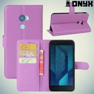 Чехол книжка для HTC One X10 - Фиолетовый