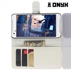 Чехол книжка для HTC One X9 - Белый