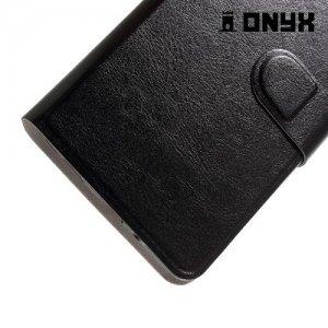 Fasion Case чехол книжка флип кейс для HTC U Ultra - Черный