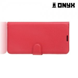 Чехол книжка для HTC U Ultra - Красный