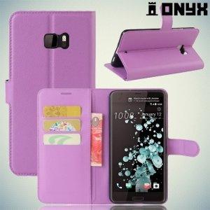 Чехол книжка для HTC U Ultra - Фиолетовый