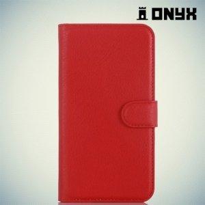 Чехол книжка для Huawei G8 - Красный