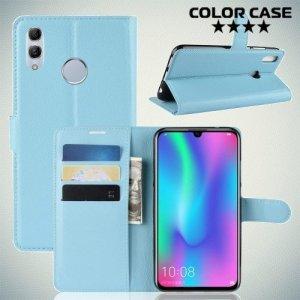 Чехол книжка для Huawei Honor 10 Lite / P Smart 2019 - Голубой