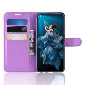 Чехол книжка для Huawei Nova 5T - Фиолетовый