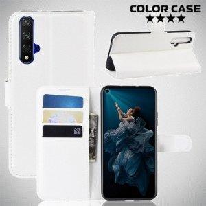 Чехол книжка для Huawei Nova 5T - Белый