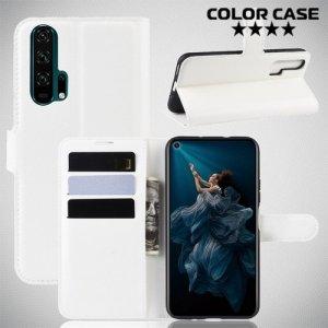 Чехол книжка для Huawei Honor 20 Pro - Белый