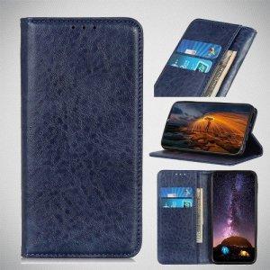 Чехол книжка для Huawei Honor 20 Pro с магнитом и отделением для карты - Синий